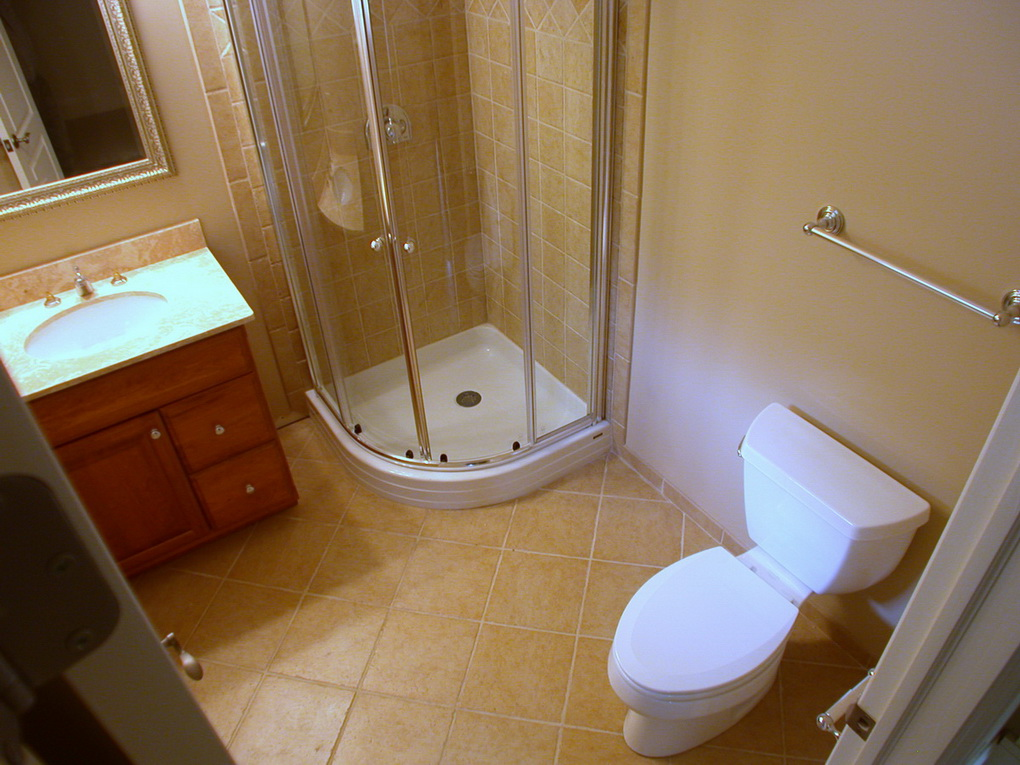 Three piece small bathrooms ozgart llc for Three piece bathroom